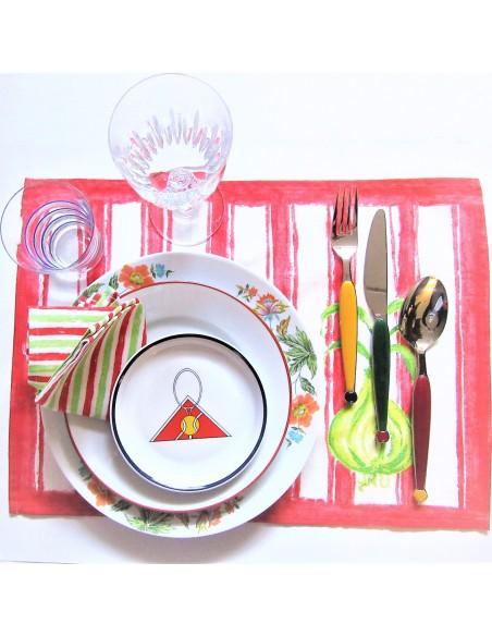 6 sets de table salad designers guild