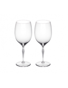 Set of 2 BORDEAUX wine glasses 100 points Crystal LALIQUE Company